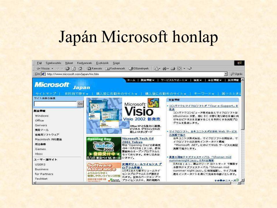 Japán Microsoft honlap