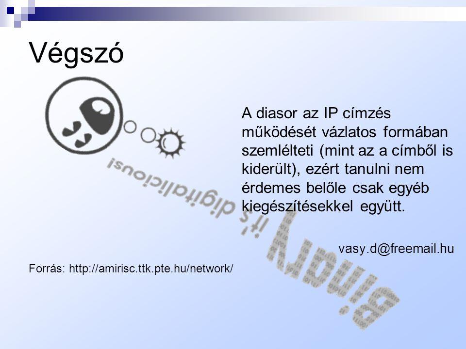  Csatolónkénti címzés: Ha egy hoszt több hálózati csatolóval rendelkezik, akkor mindegyik külön IP címet kap. Tehát nagyon fontos, hogy az IP cím nem