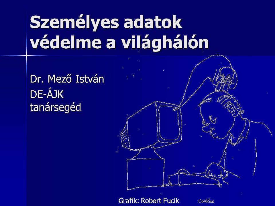 Személyes adatok védelme a világhálón Dr. Mező István DE-ÁJK tanársegéd Grafik: Robert Fucik