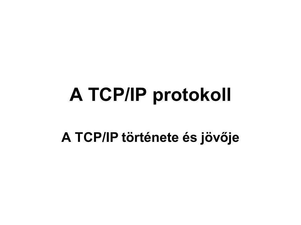 A TCP/IP protokoll A TCP/IP története és jövője