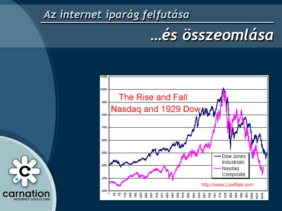 Az internet iparág felfutása …és összeomlása