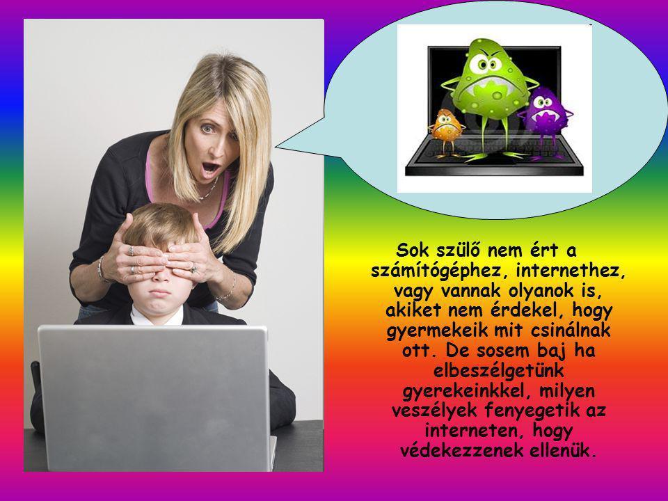Sok szülő nem ért a számítógéphez, internethez, vagy vannak olyanok is, akiket nem érdekel, hogy gyermekeik mit csinálnak ott.