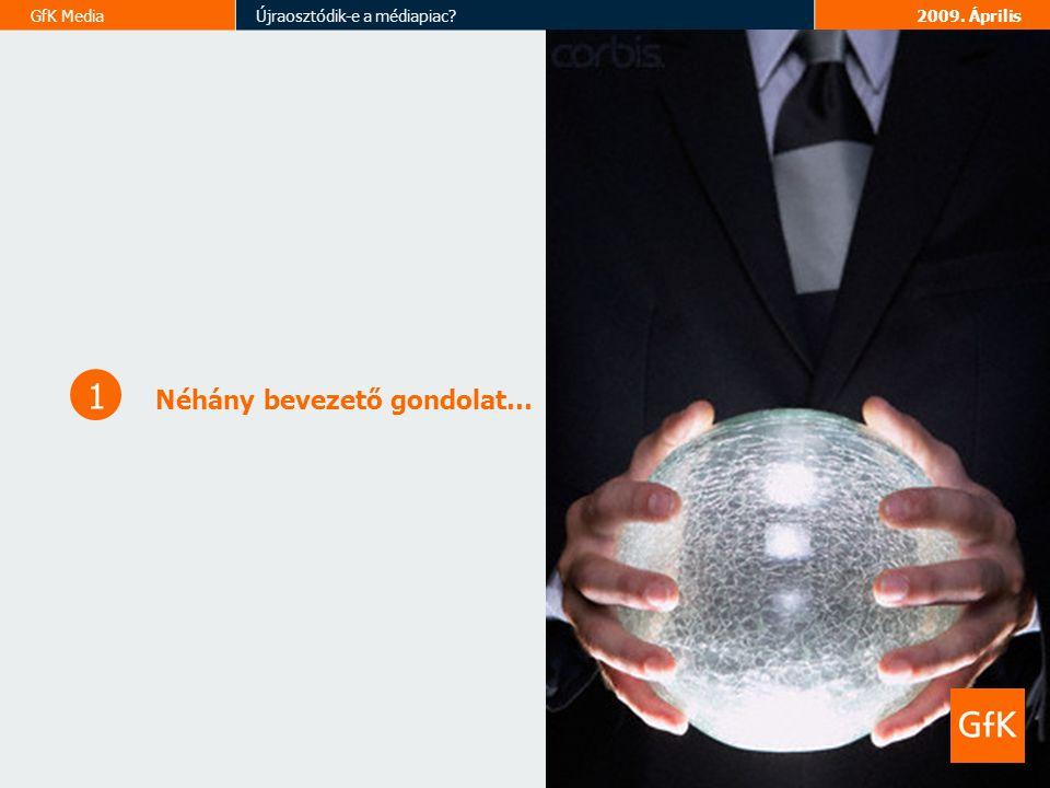 GfK MediaÚjraosztódik-e a médiapiac 2009. Április Néhány bevezető gondolat… 1