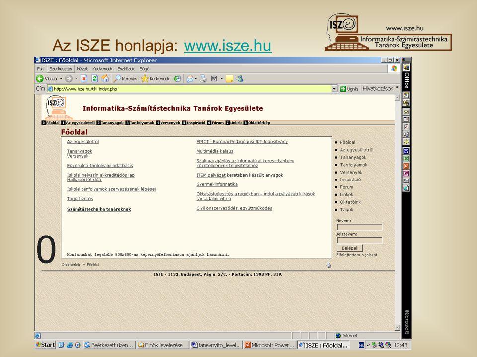 Az ISZE honlapja: www.isze.huwww.isze.hu