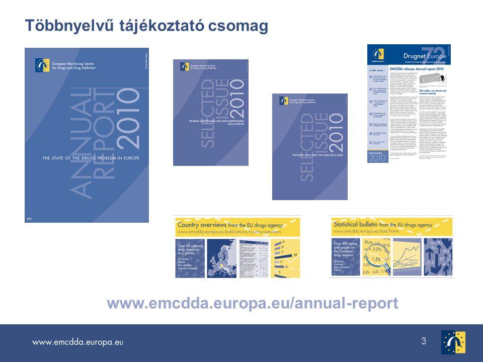 3 Többnyelvű tájékoztató csomag www.emcdda.europa.eu/annual-report