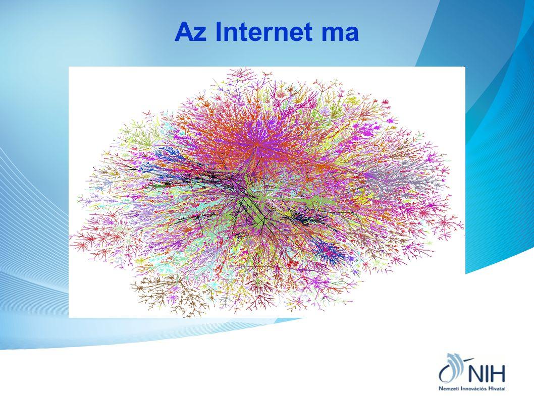 Internet statisztika •Az Internet felhasználók száma meghaladta a 2 milliárdot és évente 14 %-kal növekszik.