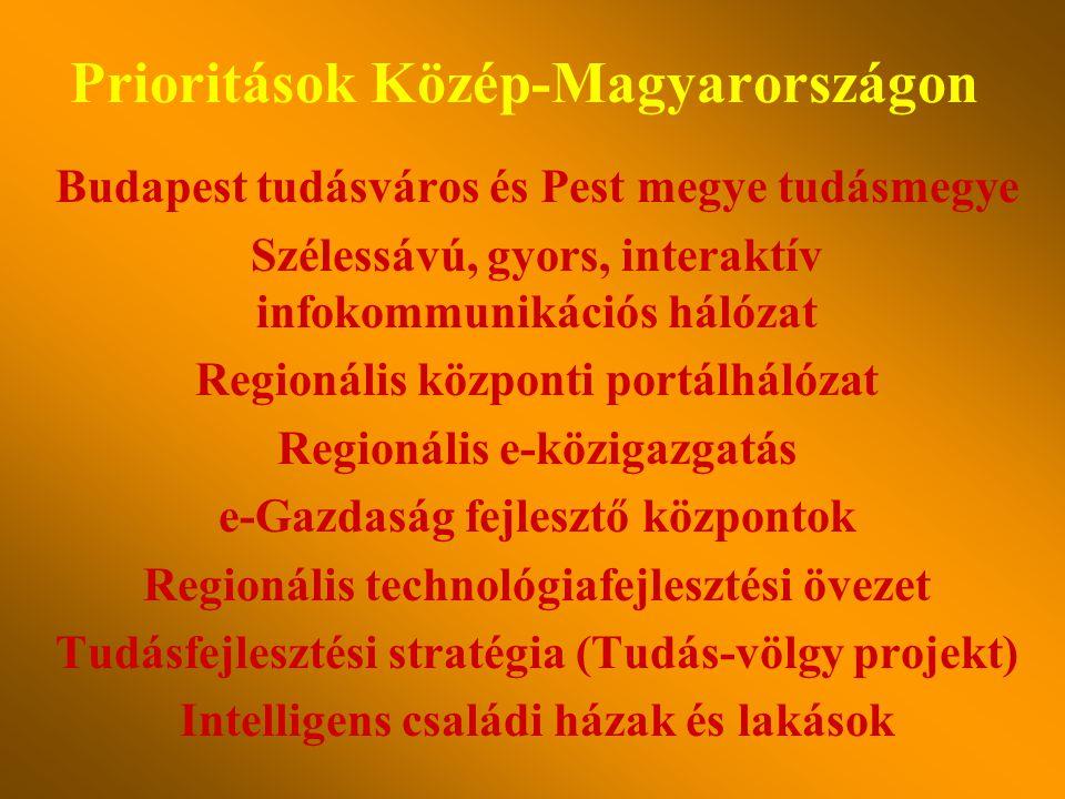 Regionális technológiafejlesztési övezet Regionális internetes televíziócsatorna Tudásfejlesztési stratégia Az ifjúság beléptetése a digitális korszak