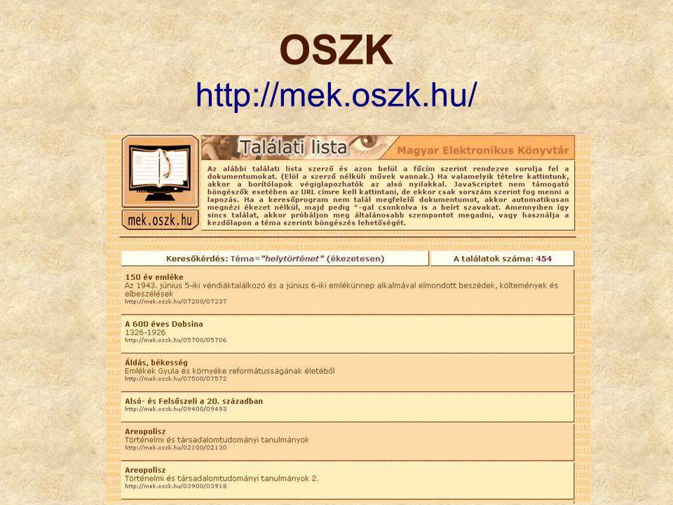 Pécsi Tudásközpont Digitális Könyvtára http://digitalia.tudaskozpont-pecs.hu/?cat=75
