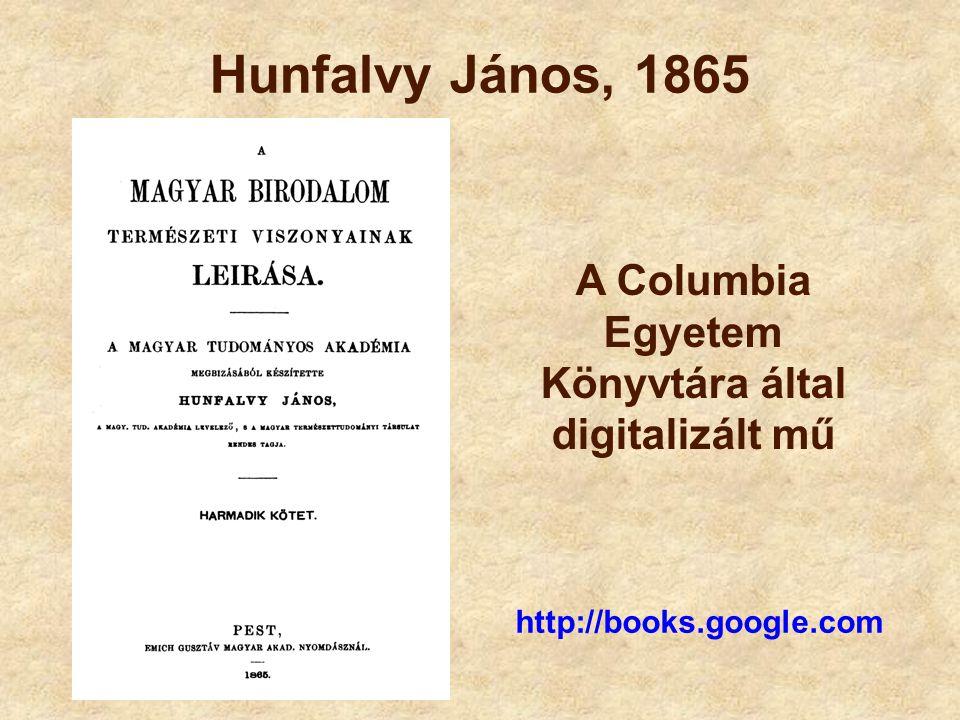 Hunfalvy János, 1865 http://books.google.com A Columbia Egyetem Könyvtára által digitalizált mű
