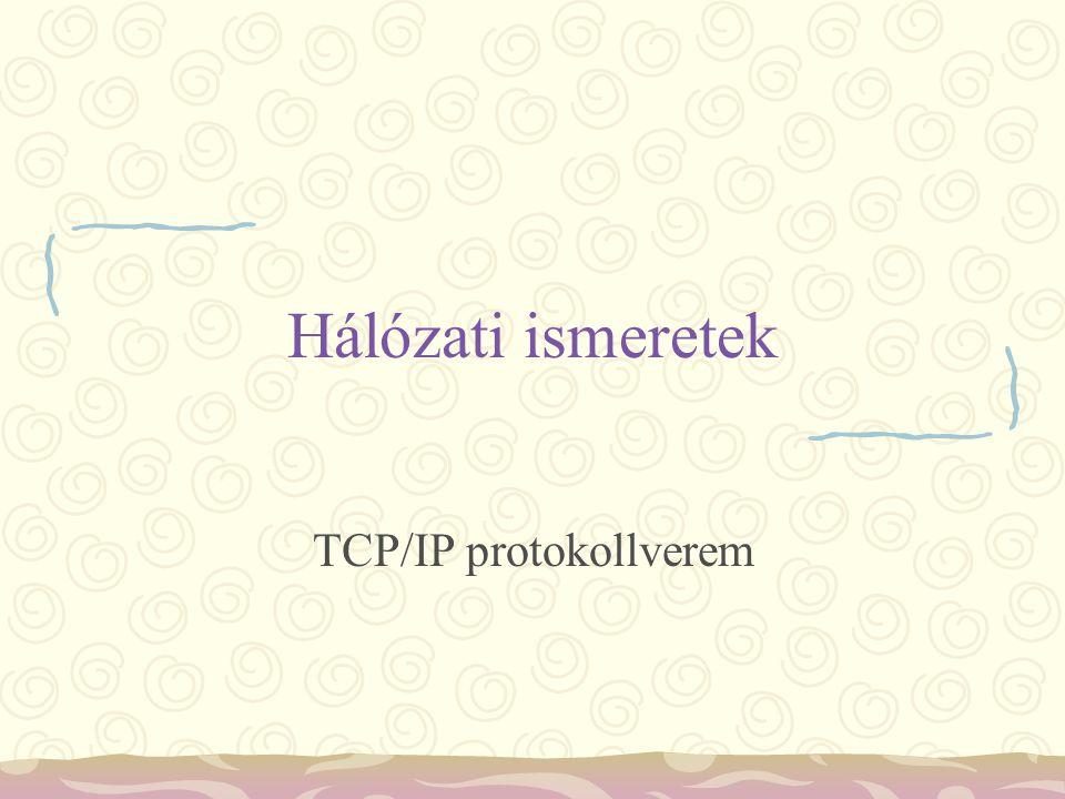 Hálózati ismeretek TCP/IP protokollverem