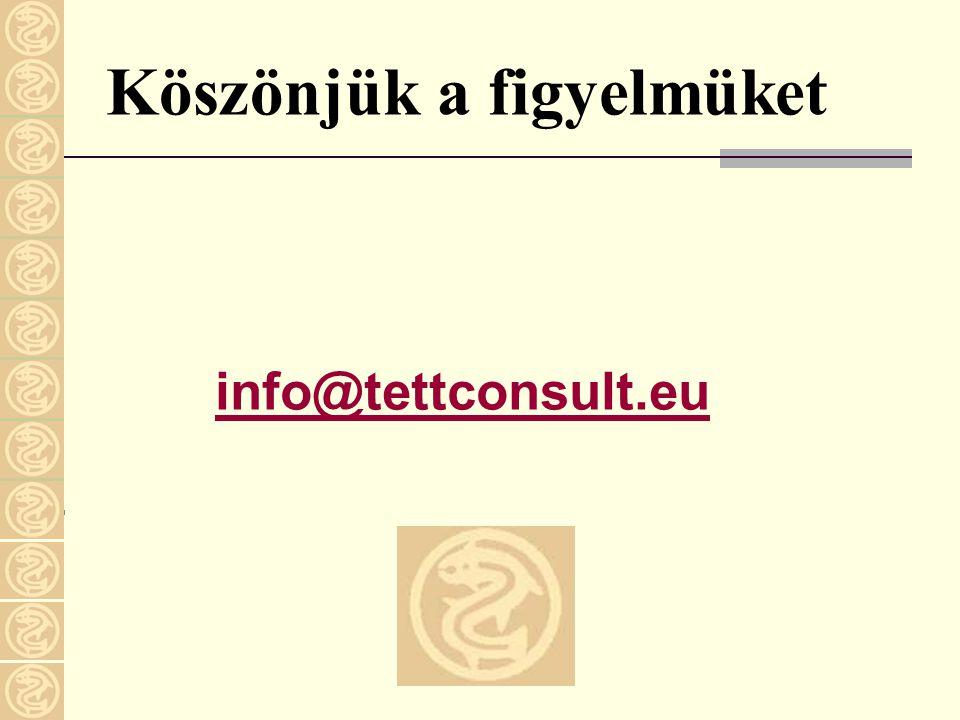 Köszönjük a figyelmüket info@tettconsult.eu