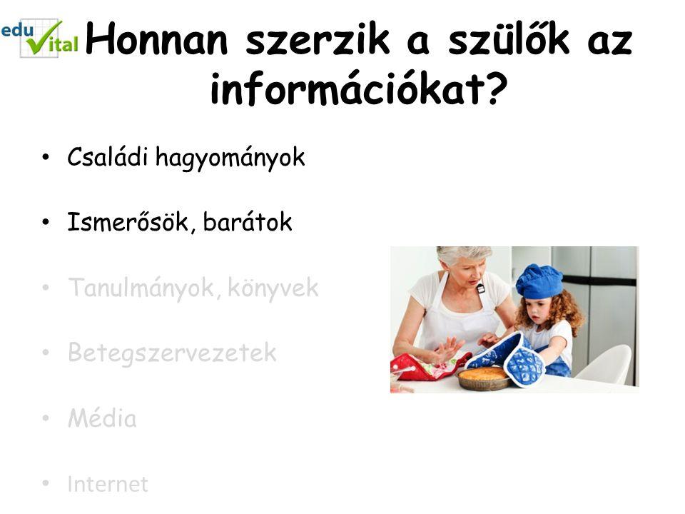 Honnan szerzik a szülők az információkat.