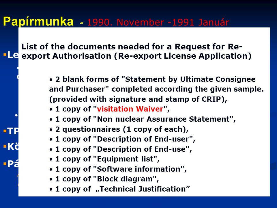  Levlek a CERN-be • Tárgy: az RMKI számítógép hálózatának a HEPNEt-hez való csatlakozási kérelme Címzettek: • Dr. O. Lock – security officer, Adviser
