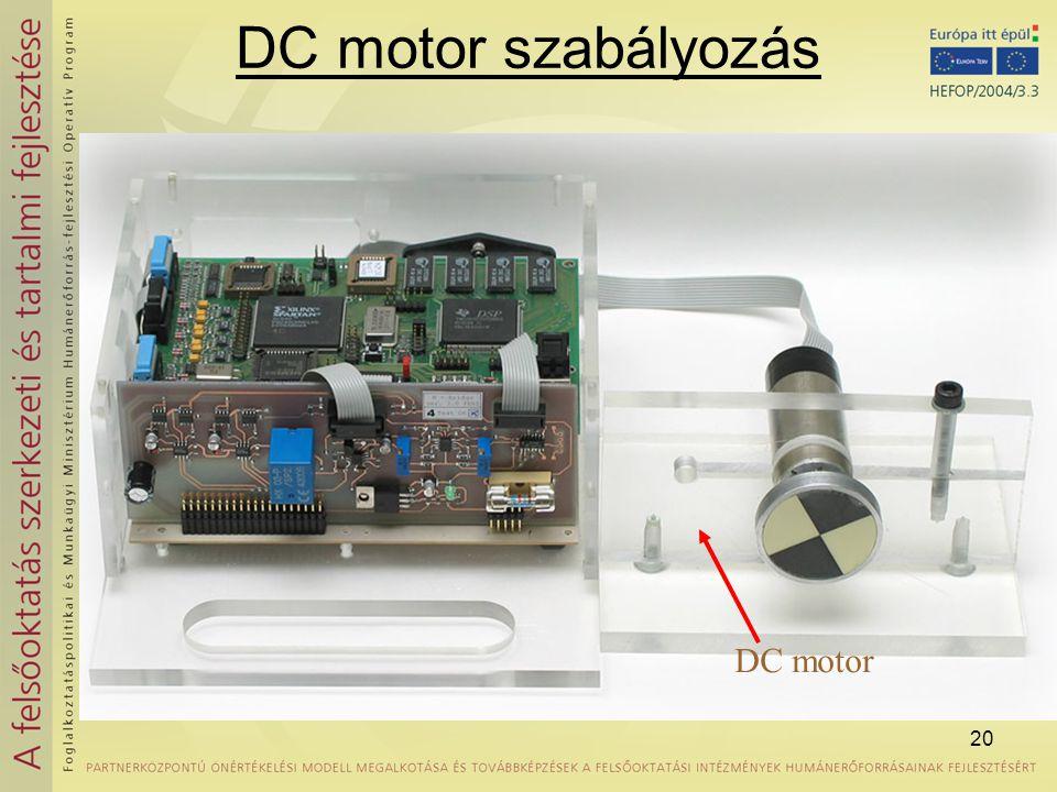 20 DC motor szabályozás DC motor