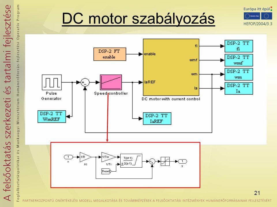 21 DC motor szabályozás
