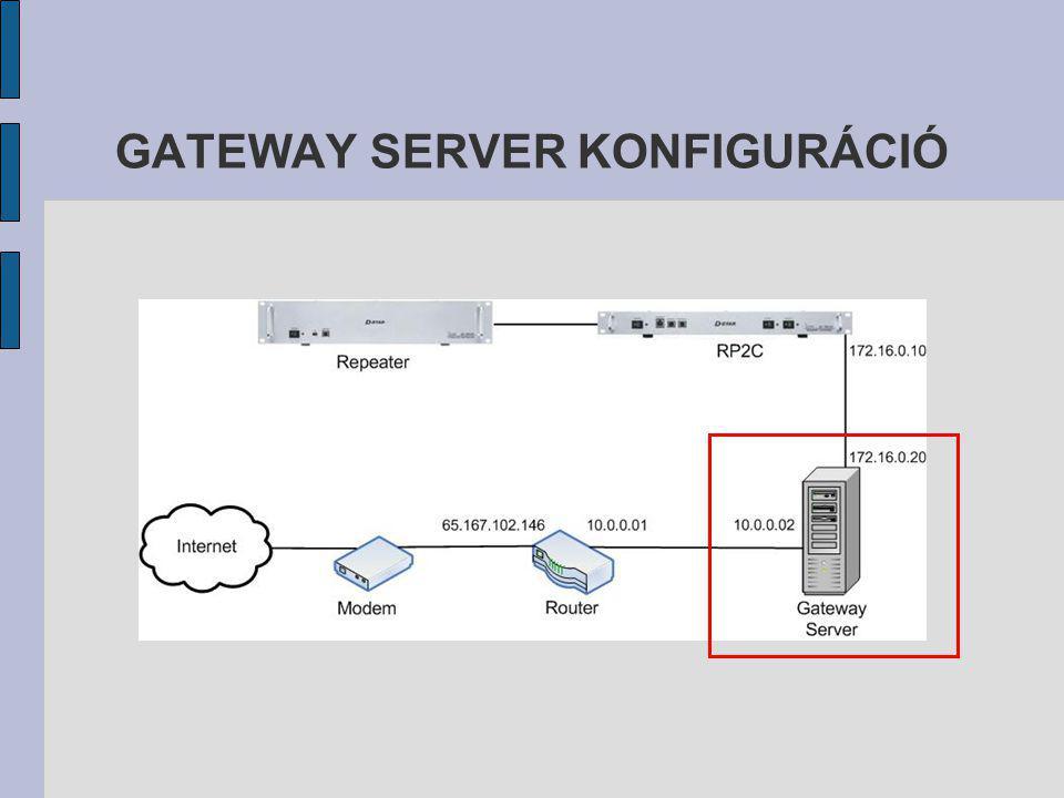 GATEWAY SERVER KONFIGURÁCIÓ