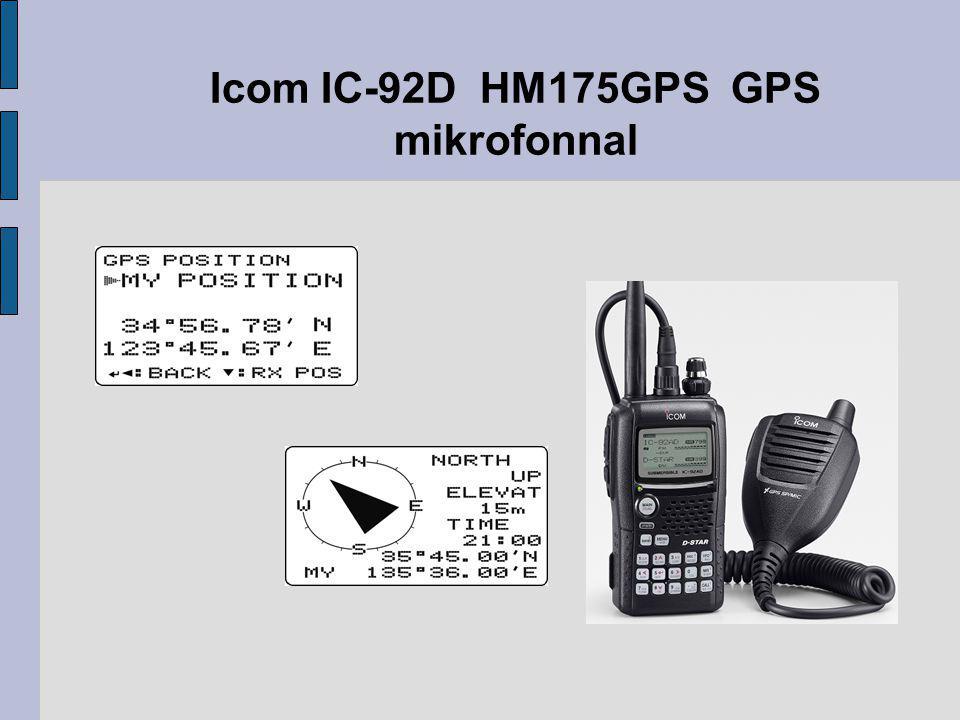 Icom IC-92D HM175GPS GPS mikrofonnal