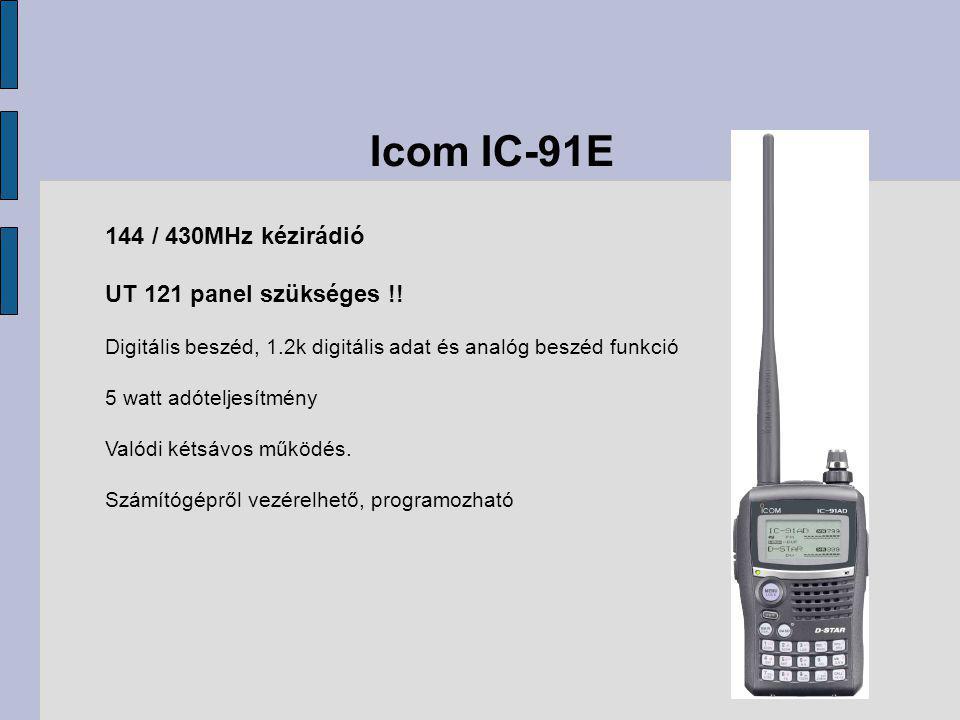 Icom IC-91E 144 / 430MHz kézirádió UT 121 panel szükséges !.