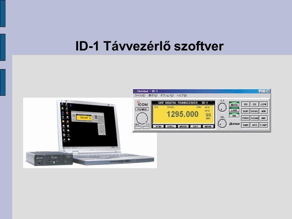 ID-1 Távvezérlő szoftver