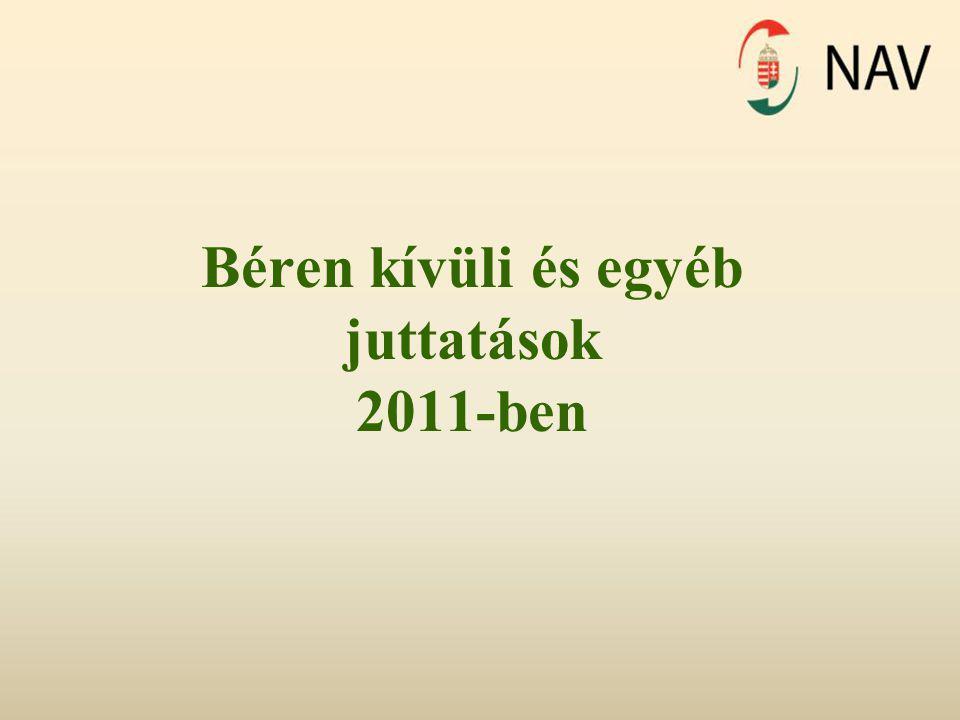 Béren kívüli és egyéb juttatások 2011-ben