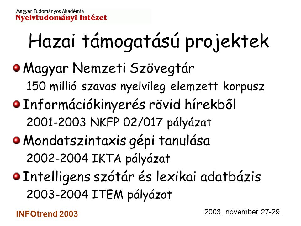 2003. november 27-29.