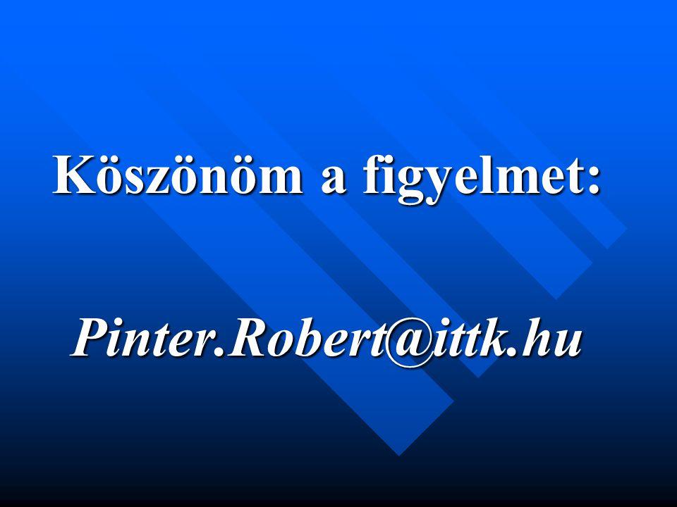 Köszönöm a figyelmet: Pinter.Robert@ittk.hu