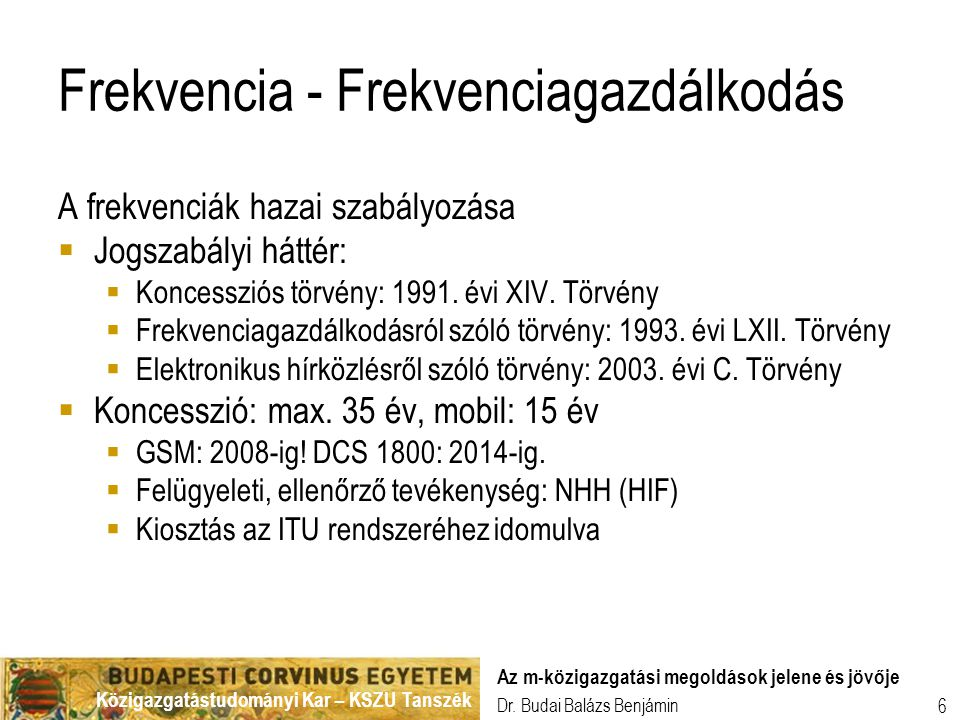 Közigazgatástudományi Kar – KSZU Tanszék Dr.