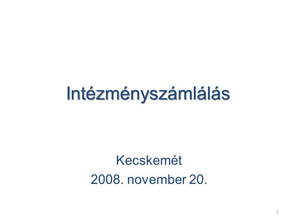 1 Intézményszámlálás Kecskemét 2008. november 20.