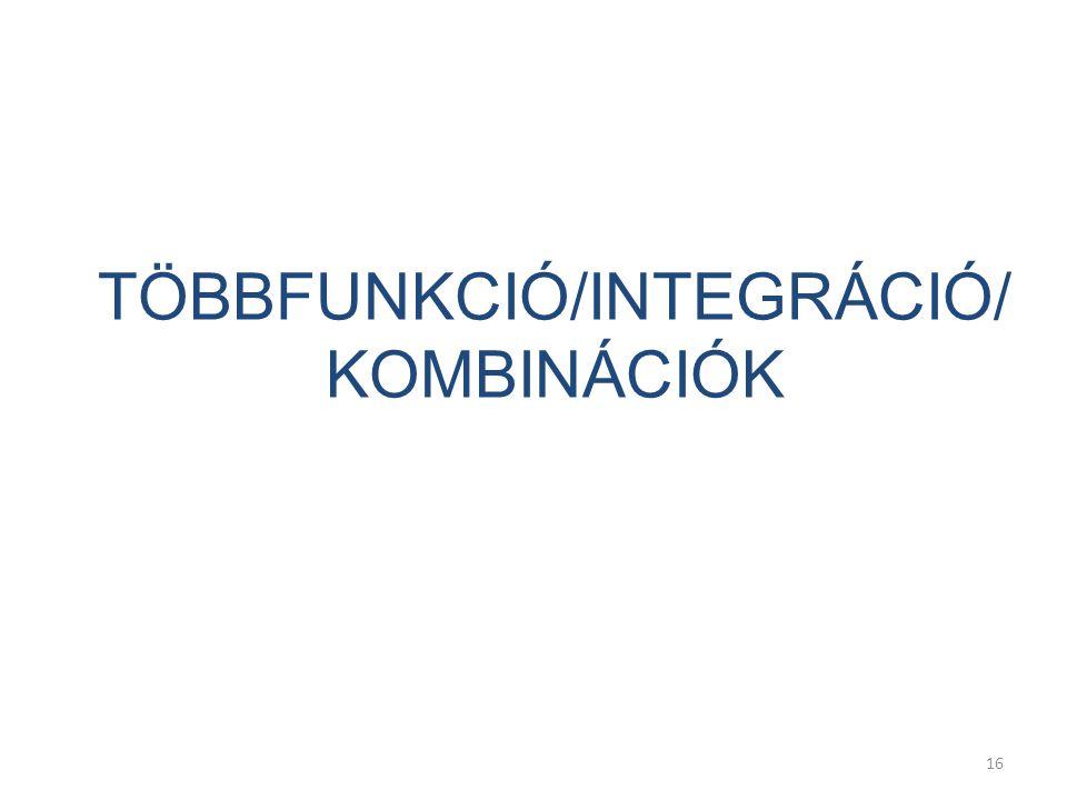 16 TÖBBFUNKCIÓ/INTEGRÁCIÓ/ KOMBINÁCIÓK