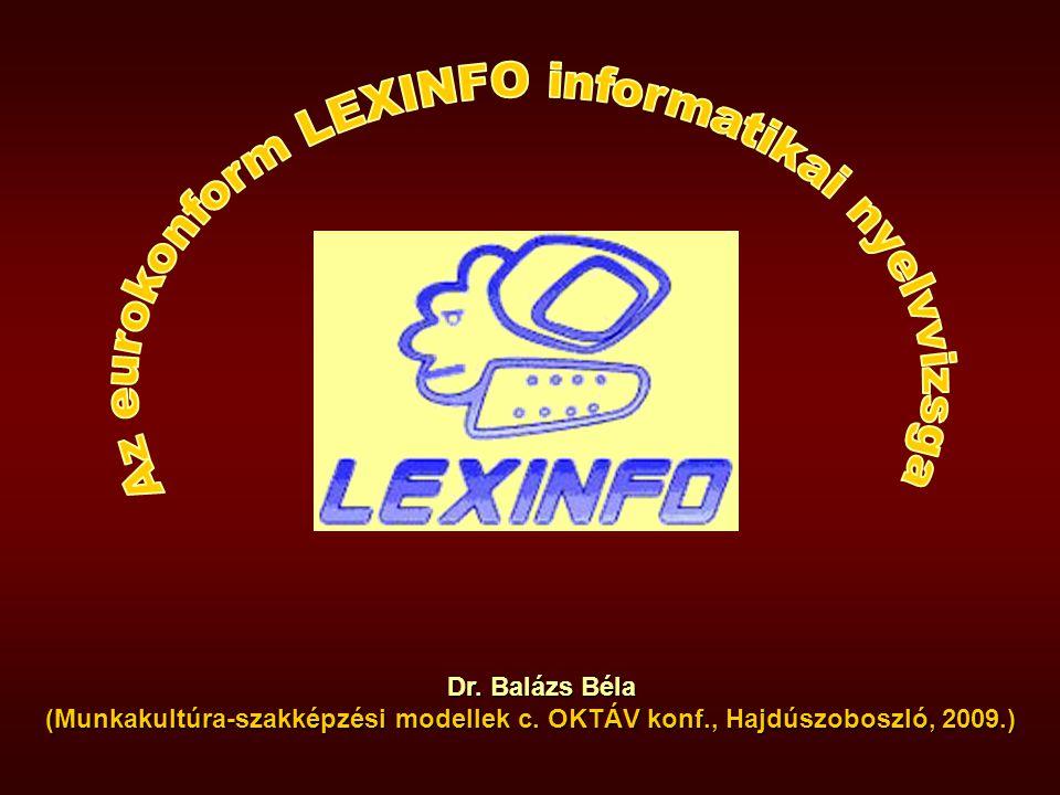 LEXINFO unikális innovatív innovatív autentikus piacorientált REZÜMÉ