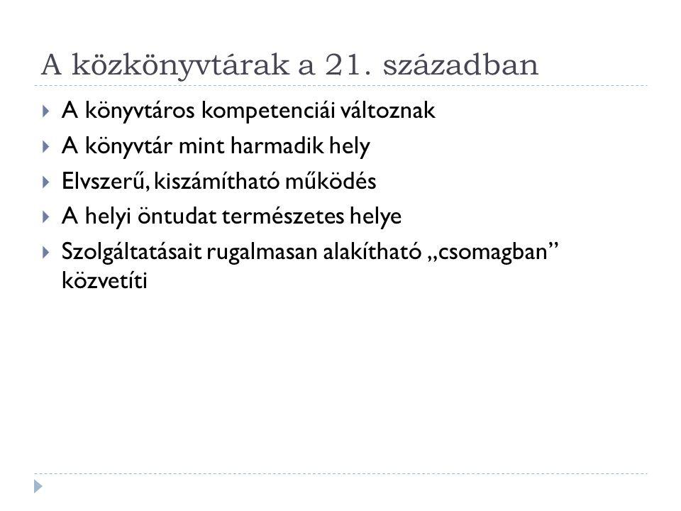 Nem formális tanulás a magyar közkönyvtárakban  2008-as ENTITLE felmérés  6 megyei könyvtár összesen 29 kérdőív,  68 városi könyvtár összesen 177 kérdőív  Az értékelést a Könyvtári Intézet végezte  A kérdőívben a szolgáltatás típusára, a célcsoportokra, a szolgáltatás módjára, az alkalmazott technikára, a résztvevők számára és a pénzügyi alapokra vonatkozó kérdések szerepeltek