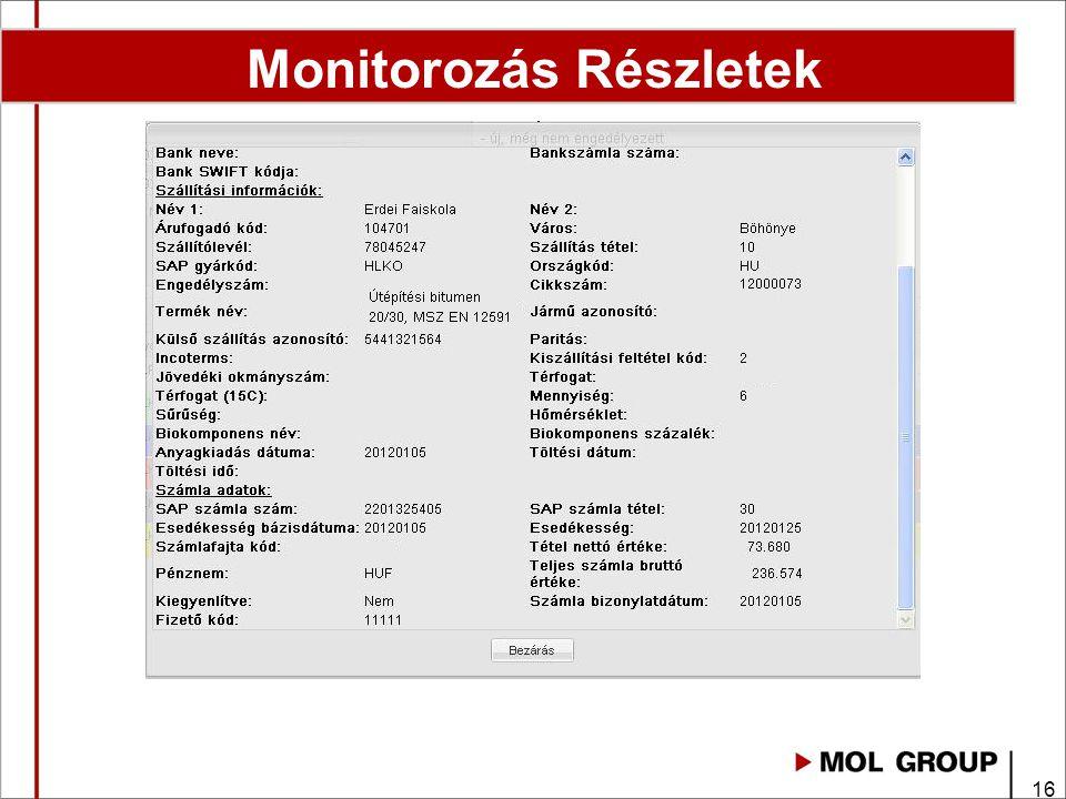 16 Monitorozás Részletek