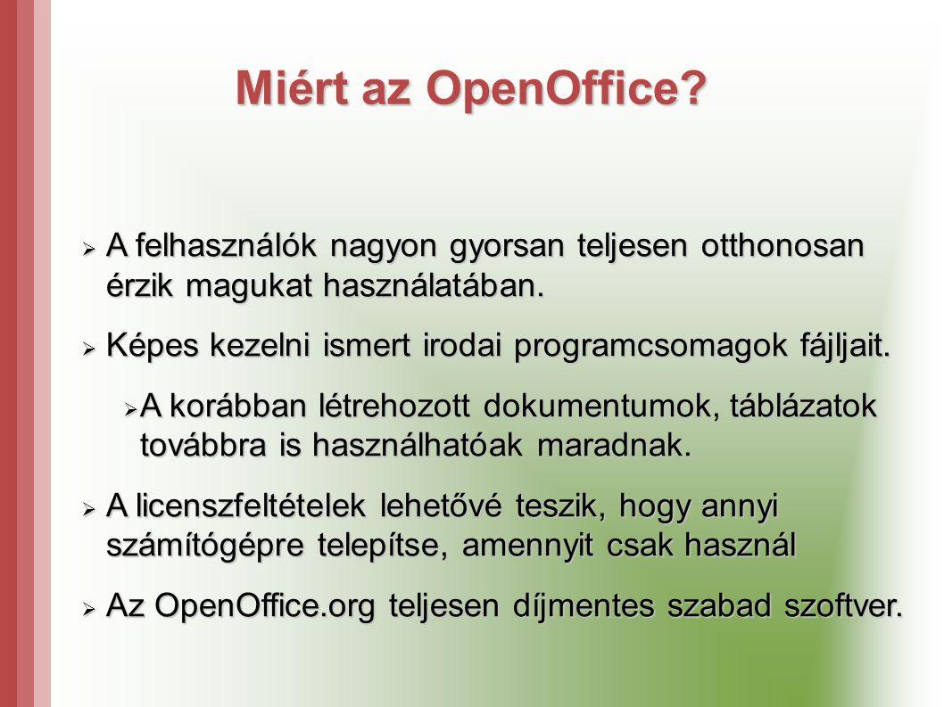 Miért az OpenOffice.