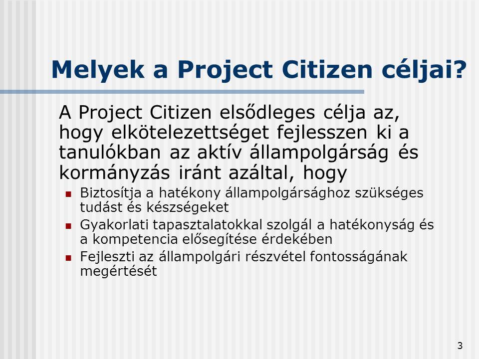 4 Melyek a Project Citizen oktatási kimenetei.