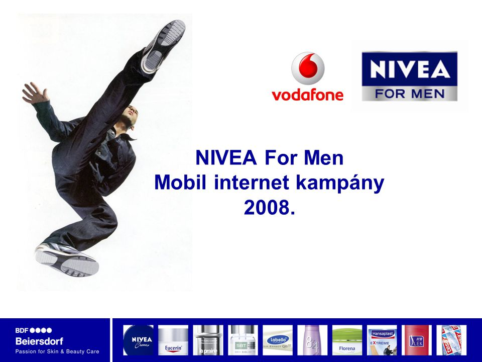 NIVEA For Men Mobil internet kampány 2008.