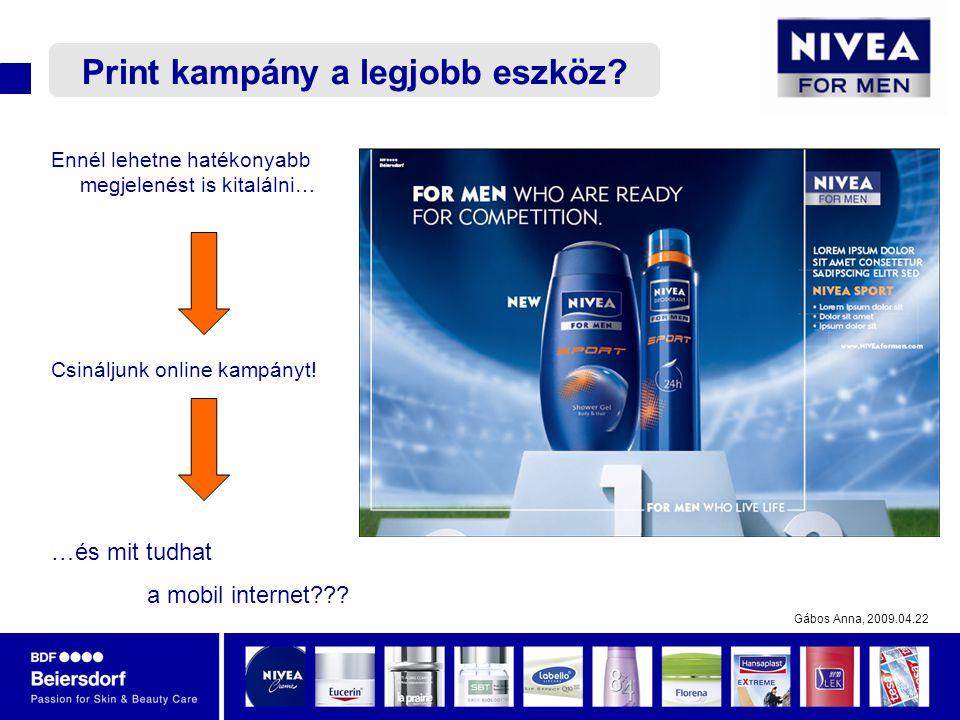 Gábos Anna, 2009.04.22 Ennél lehetne hatékonyabb megjelenést is kitalálni… Csináljunk online kampányt.