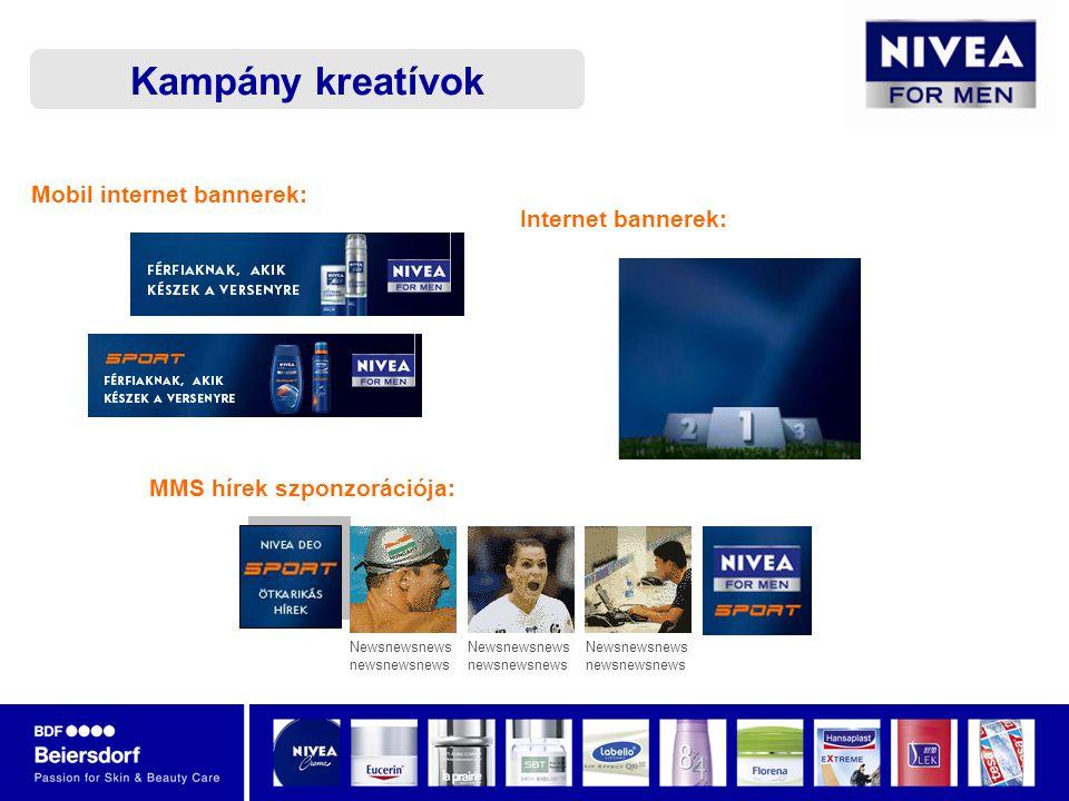 MMS hírek szponzorációja: Newsnewsnews newsnewsnews Newsnewsnews newsnewsnews Newsnewsnews newsnewsnews Kampány kreatívok Mobil internet bannerek: Internet bannerek: