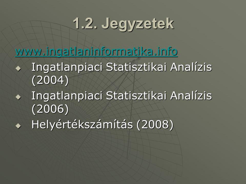 Statisztikai kontroll Statisztikai kontroll A forgalmi értékelés, ingatlanvagyon-értékelésnek célja, rendeltetése van, úgymint - banki fedezetértékeléshez (protokollok) - adózáshoz (ingatlanadó www.ingatlanado.hu ) - jogügyletekhez (gyámhivatal, örökség stb.) - üzleti döntésekhez ( ingatlan-értékbecslés, tanulmányok)  Jelen esetben  statisztikai kontroll témakörét érintjük.