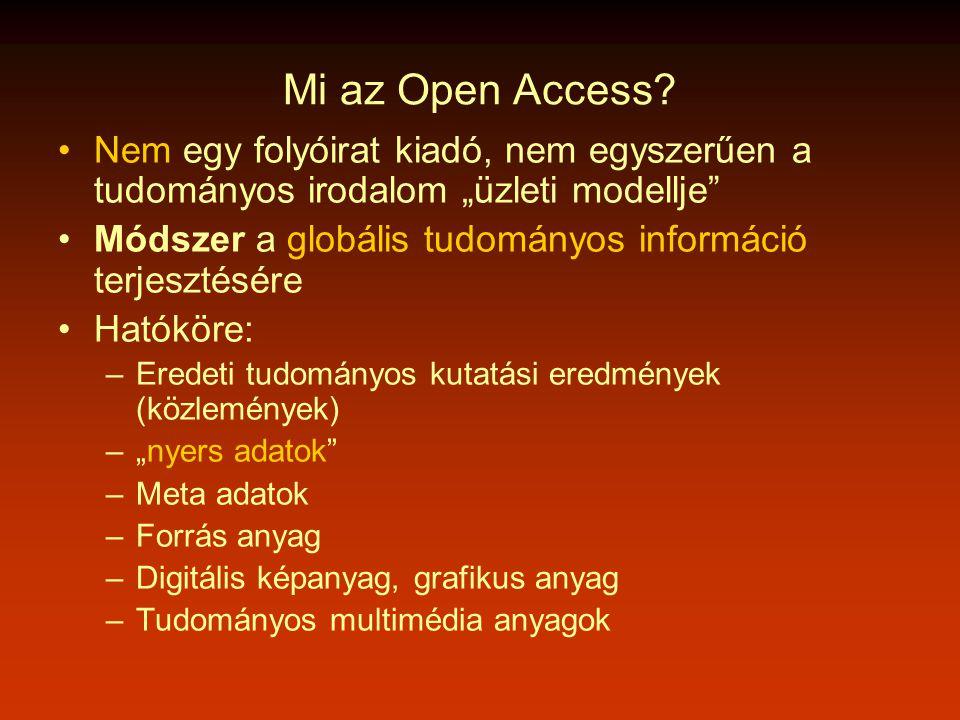 Mi az Open Access.
