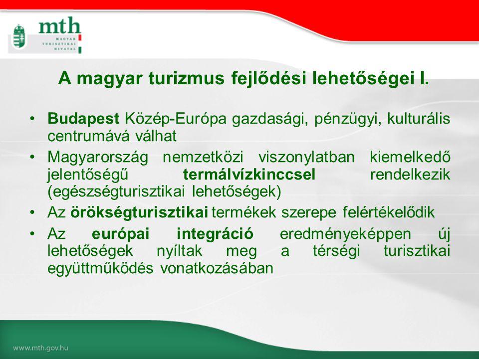 A magyar turizmus fejlődési lehetőségei I.