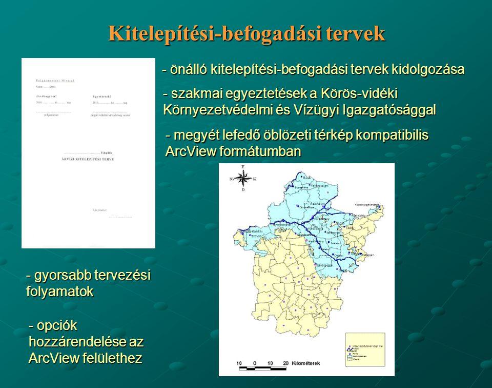 Kitelepítési-befogadási tervek - önálló kitelepítési-befogadási tervek kidolgozása - szakmai egyeztetések a Körös-vidéki Környezetvédelmi és Vízügyi I