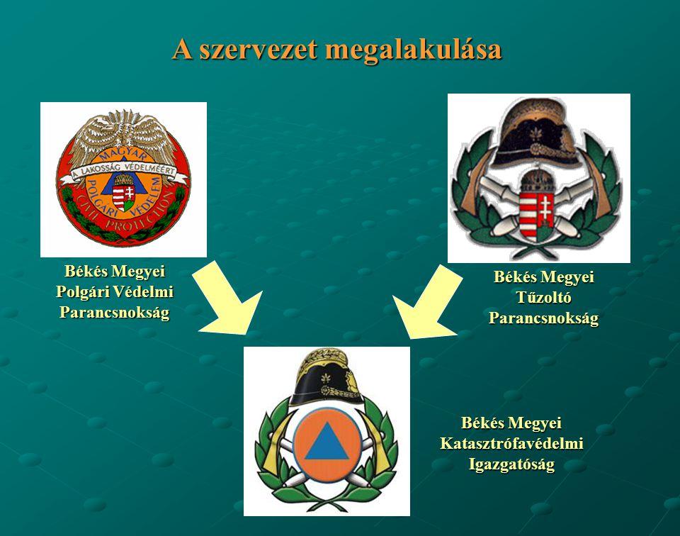 Békés Megyei Polgári Védelmi Parancsnokság Békés Megyei Tűzoltó Parancsnokság Békés Megyei Katasztrófavédelmi Igazgatóság A szervezet megalakulása