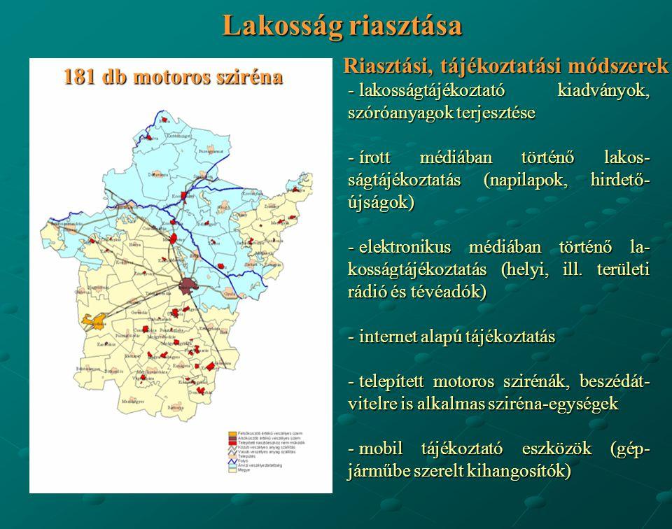 Lakosság riasztása - lakosságtájékoztató kiadványok, szóróanyagok terjesztése - írott médiában történő lakos- ságtájékoztatás (napilapok, hirdető- újs
