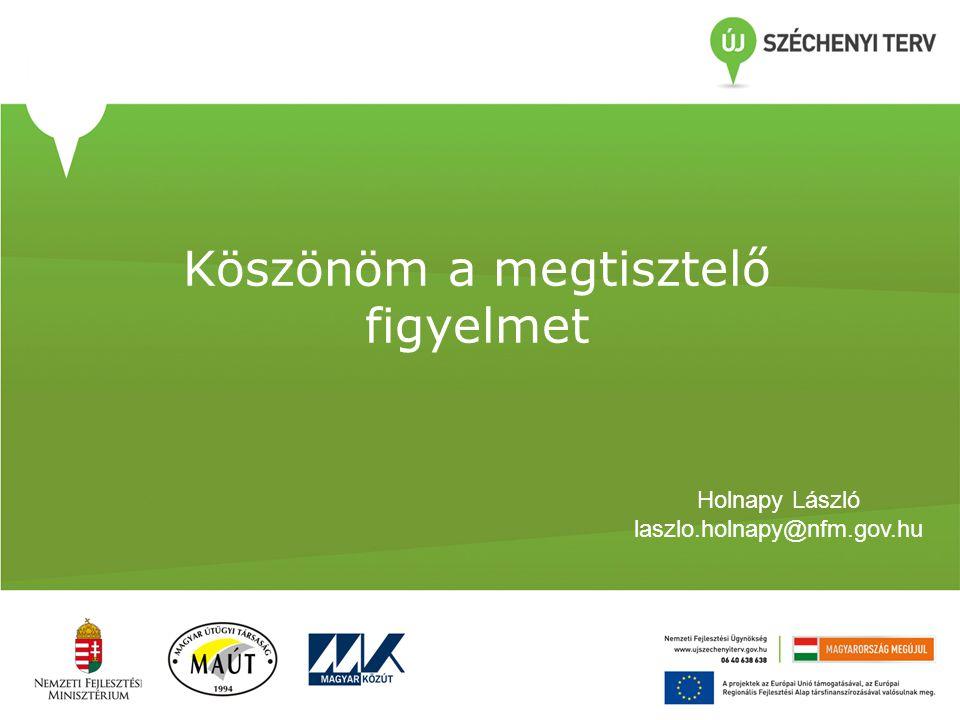 Köszönöm a megtisztelő figyelmet Holnapy László laszlo.holnapy@nfm.gov.hu