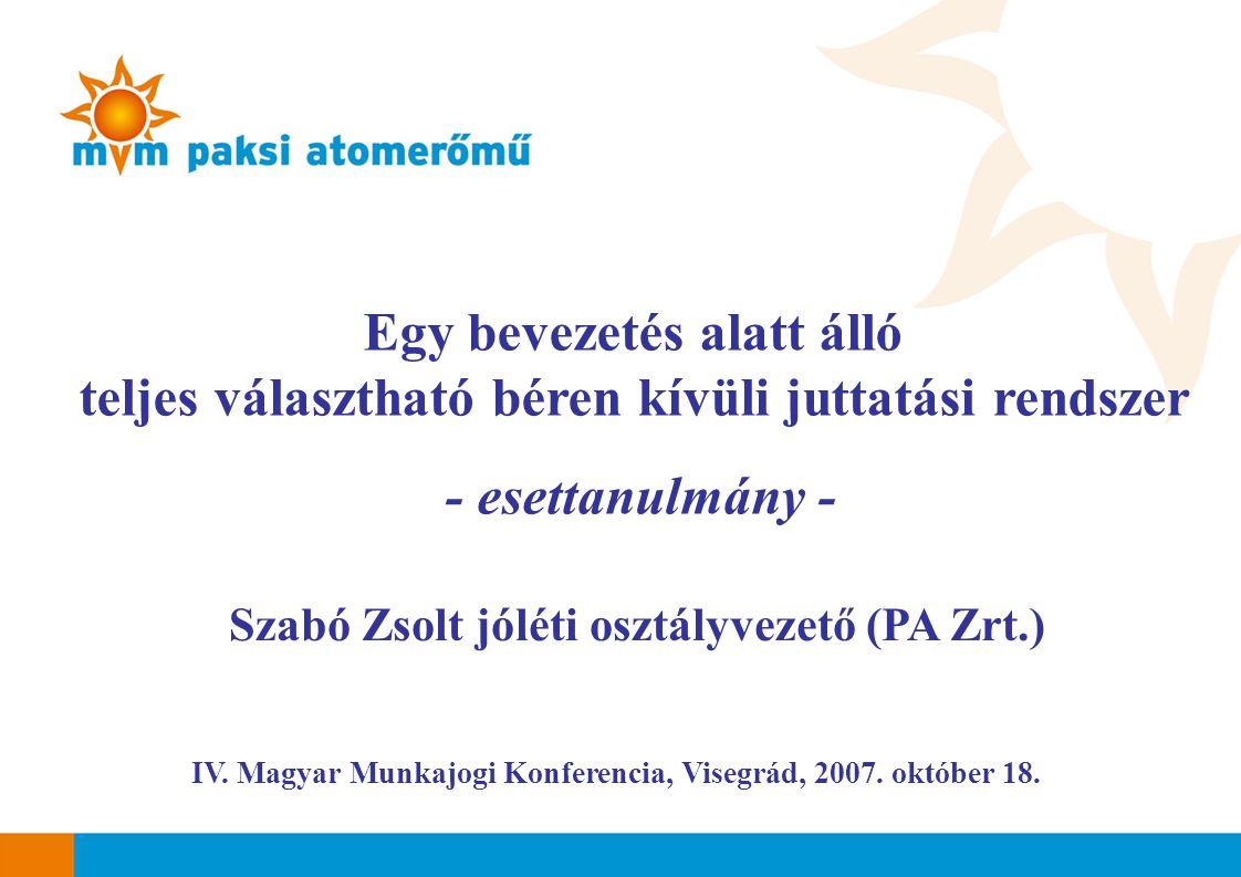 IV.Magyar Munkajogi Konferencia, Visegrád, 2007. október 18.