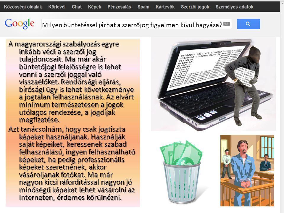 A magyarországi szabályozás egyre inkább védi a szerzői jog tulajdonosait. Ma már akár büntetőjogi felelősségre is lehet vonni a szerzői joggal való v
