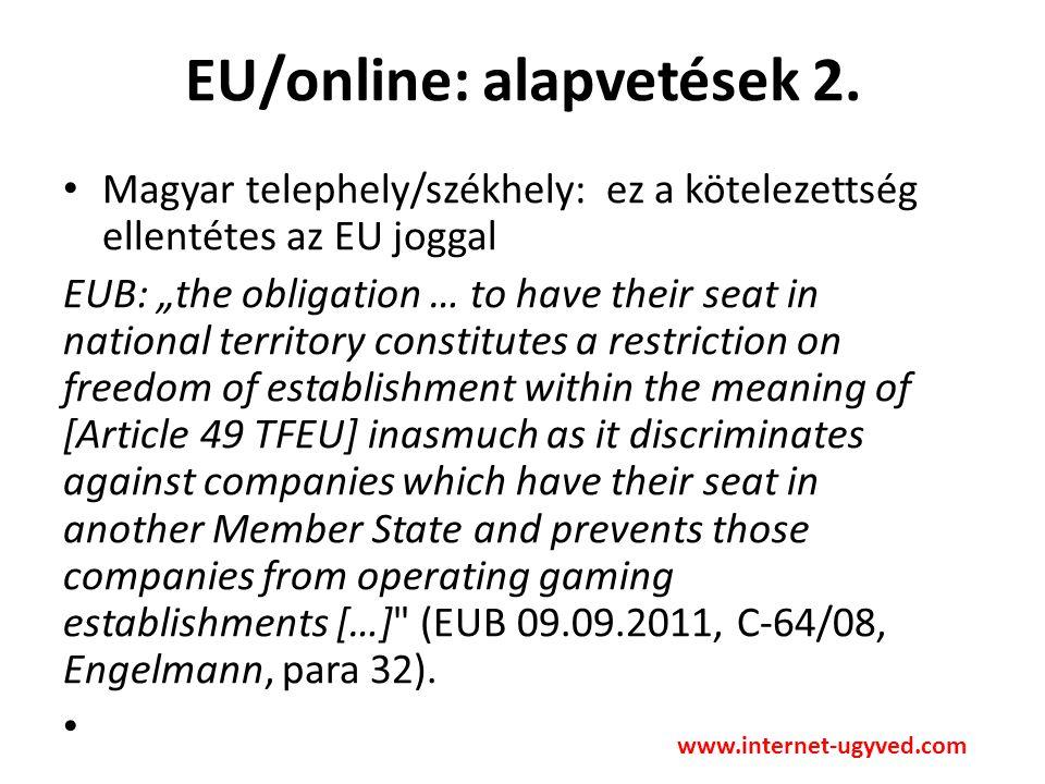 EU/online: alapvetések 3.