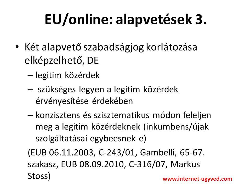 EU/online: alapvetések 4.