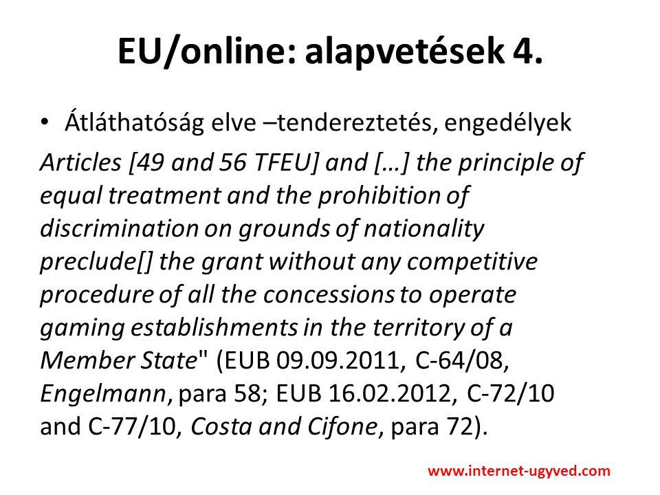EU/online: alapvetések 5.