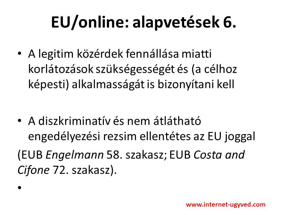 EU/online: alapvetések 6.